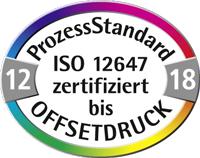 DruckArt Druckerei PSO Siegel. ISO zertifiziert. ProzessStandart Offsetdruck.