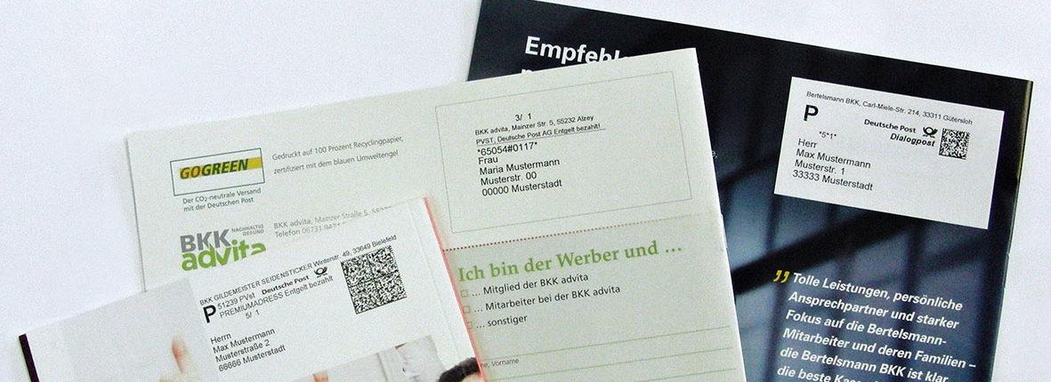 DruckArt Mailing Personalisierung BKK Krankenkasse
