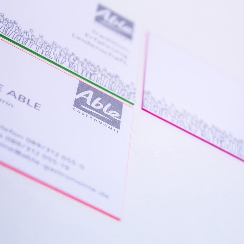 Visitenkarten Farbschnitt DruckArt