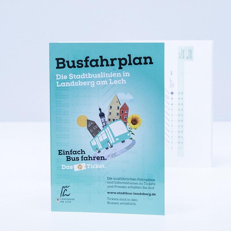 Faltblatt Fahrplan DruckArt